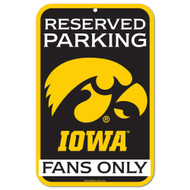 University of Iowa Fans Only Reserved Parking Sign