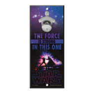 Star Wars The Force Is Strong In This One Wooden Wall Mounted Bottle Opener