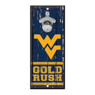 West Virginia Wooden Wall Mounted Bottle Opener