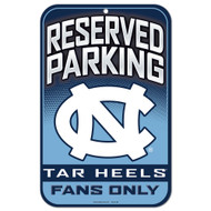 North Carolina Fans Only Reserved Parking Sign