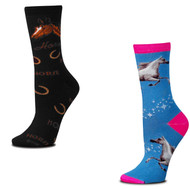 Bundle 2 Items: Mystic Horse and Horse Words Medium Socks