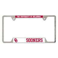 University of Oklahoma Metal License Plate Frame