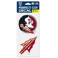 "Florida State University 4""x4"" Logo Decal (2-Pack)"