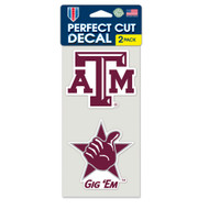 "Texas A&M University 4""x4"" Logo Decal (2-Pack)"
