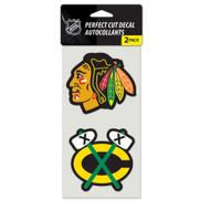 "Chicago Blackhawks  4""x4"" Logo Decal (2-Pack)"