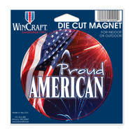 "USA Proud American Die Cut 4.5"" x 6"" Car Magnet"