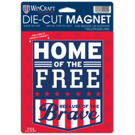 "USA Home of the Free Die Cut 6.25"" x 9"" Car Magnet"