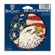 "USA Flag Eagle Die Cut 4.5"" x 6"" Car Magnet"