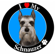 I Love My Cropped Schnauzer Magnet