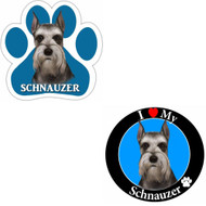 Bundle: Two (2) Cropped Schnauzer Magnets