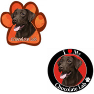 Bundle: Two (2) Chocolate Labrador Magnets