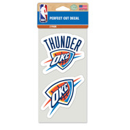 "Oklahoma City Thunder 4""x4"" Logo Decal (2-Pack)"