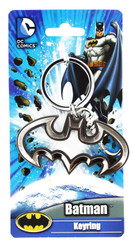 Batman Logo Cutout Pewter Keychain