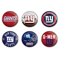 New York Giants Buttons 6-Pack