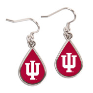 Indiana University Tear Drop Earrings