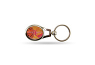 Houston Rockets Oval Keychain