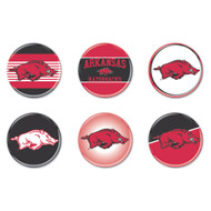 University of Arkansas Buttons 6-Pack