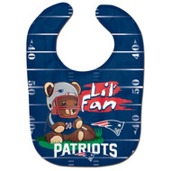 New England Patriots Teddy Bear All Pro Baby Bib