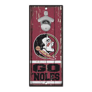 Florida State University Wooden Wall Mounted Bottle Opener
