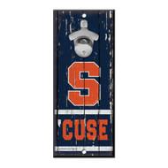 Syracuse University Wooden Wall Mounted Bottle Opener