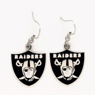 Oakland Raiders Dangle Earrings NFL