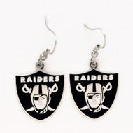 Oakland Raiders Dangle Earrings NFL