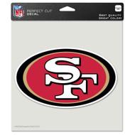 "San Francisco 49ers 8""x8"" Team Logo Decal"