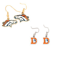 Denver Broncos Logo and Vintage Logo Earrings