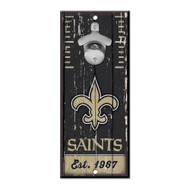 New Orleans Saints Wooden Wall Mounted Bottle Opener