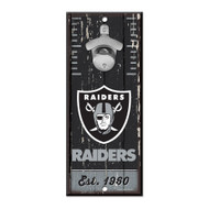 Oakland Raiders Wooden Wall Mounted Bottle Opener
