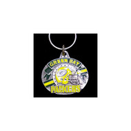 Green Bay Packers Pewter Oval Keychain