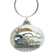 Denver Broncos Pewter Oval Keychain