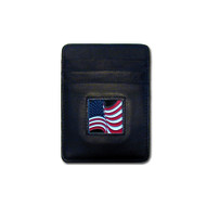 American Flag Leather Money Clip Cardholder