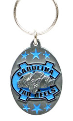 University of North Carolina Pewter Keychain NCAA