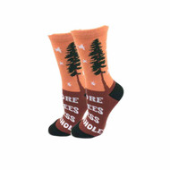 More Trees One Size Fits Most Orange Ladies Crew Socks