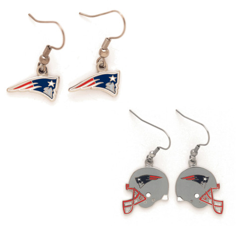New England Patriots Logo and Helmet Earrings