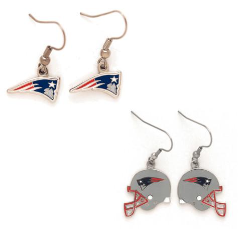 New England Patriots Logo and Helmet Earrings