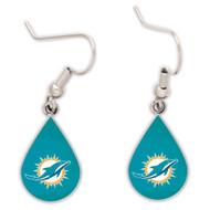 Miami Dolphins Tear Drop Earrings