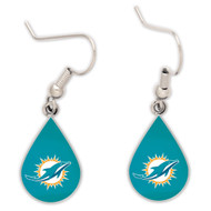 Miami Dolphins Tear Drop Earrings