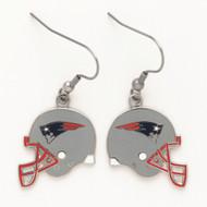 New England Patriots Helmet Dangle Earrings