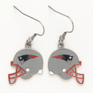 New England Patriots Helmet Dangle Earrings
