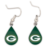Green Bay Packers Tear Drop Earrings