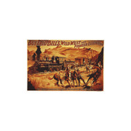 Buffalo Bill's Wild West Train Robbery Porcelain Refrigerator Magnet