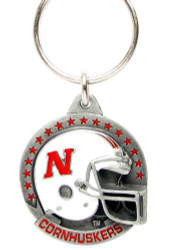University of Nebraska Helmet Pewter Keychain NCAA