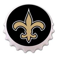 New Orleans Saints Bottle Cap Magnet Bottle Opener
