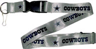 Dallas Cowboys Grey Lanyard Keychain