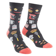 Whisking Business One Size Fits Most Black Ladies Crew Socks