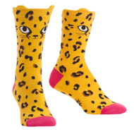 Chee-Toes One Size Fits Most Yellow Ladies Crew Socks