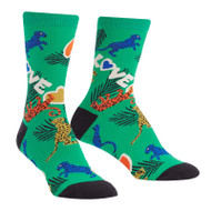 Wild Thing One Size Fits Most Green Ladies Crew Socks