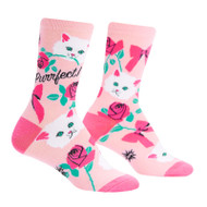 You're Purrfect One Size Fits Most Pink Ladies Crew Socks